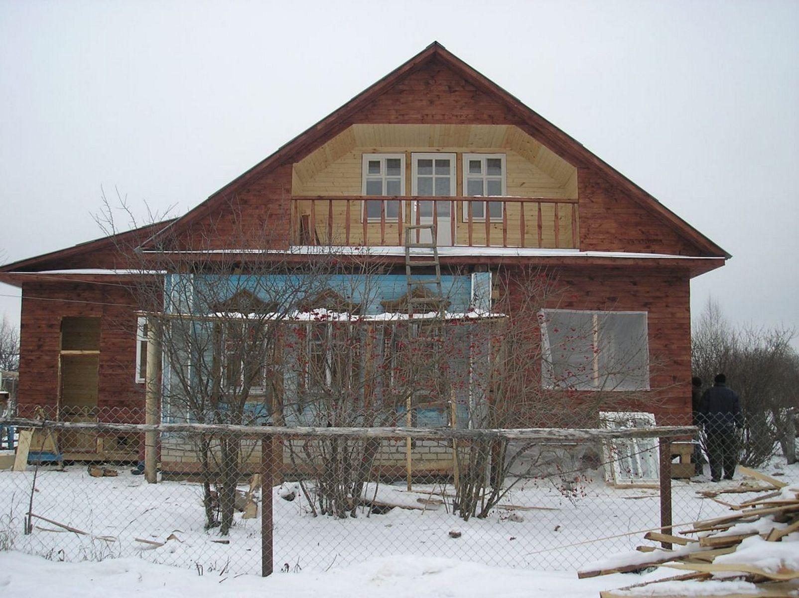 Как из старого деревянного дома сделать новый фото