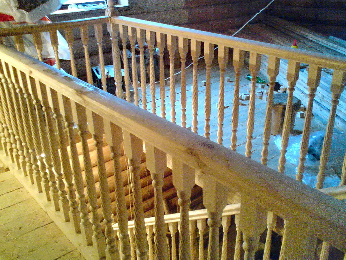 Перила для лестницы своими руками - изготовление и монтаж! 96