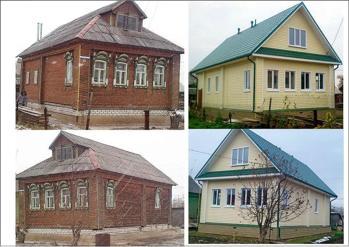 фото дома до и после ремонта